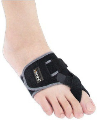 BodyVine Bunion Aligner-Left Foot Support (L, Black)