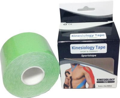 Prop It Up Kinesiology Tape Knee, Calf & Thigh Support (Free Size, Green)