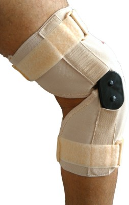 Wonder Care Wonder Care-12 Inch Elastic Brace With Hinge Open Patella - Small Knee Support (S, Beige)