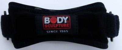 Body Sculpture Nylon, Neoprene Patella Strap Knee Support (Free Size, Black)