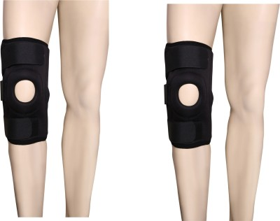 Applikon Combo Of Open Patela Without Hinz Knee Support (S, Black)