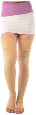 Vissco Medical Compression Stockings Above Knee, Calf & Thigh Support (M, Beige)