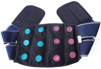 Acs Acupressure back & Belly Belt 12 Magnet Back & Abdomen Support (M, Blue)