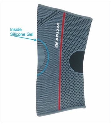 Vector X with Silicone Gel Elbow Support (L, Grey, Black)