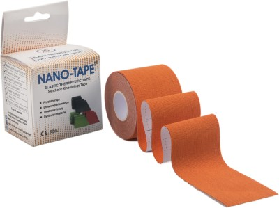 Nano-Tape Synthetic Kinesiology Knee, Calf & Thigh Support (Free Size, Orange)