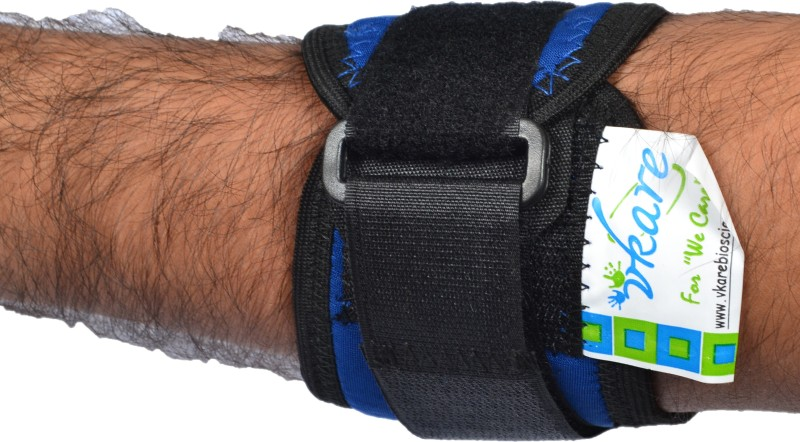 Vkare Tennis Elbow Support (Free Size, Blue)