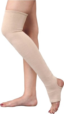 SafeAnBTouch Varicose Vein Stockings Above Knee Thigh Support (XL, Beige)