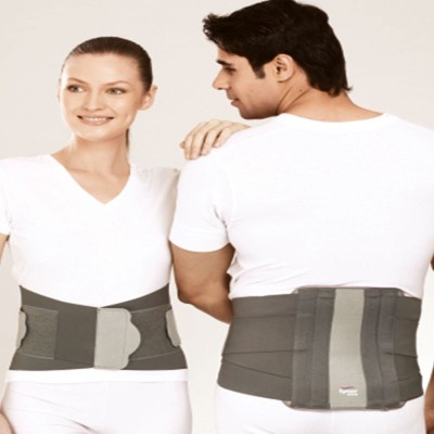 Tynor Orthopedic Contoured L S Belt Back Support (M, Grey)