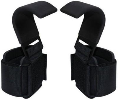 Kobo WTA-01 Pro Weight Lifting Hook Palm Support (Free Size, Black)