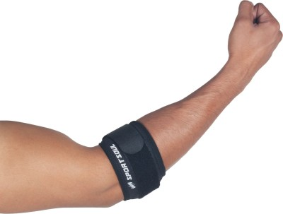 SportSoul Tennis Elbow Support (M, Black)