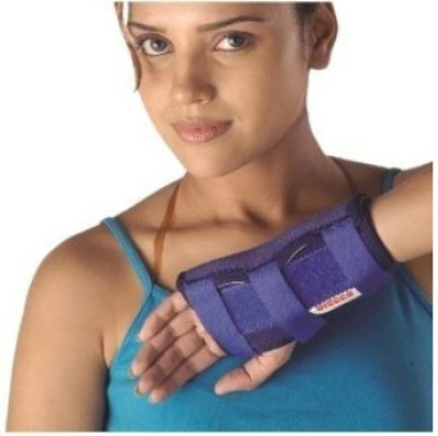 Vissco Neoprene Cock-Up Splint Universal Wrist Support (Free Size, Blue)