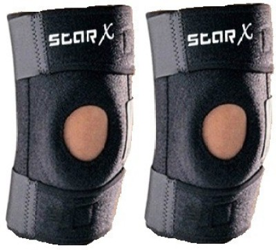 Star X Pro Cap With Extra Softness Knee Support (Free Size, Black)