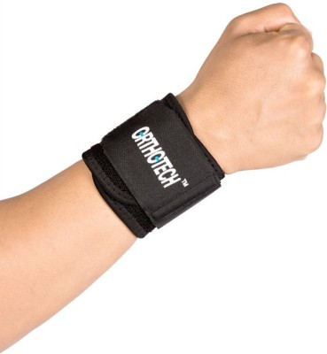 Orthotech Wrist Support Wrist Support (Free Size, Black)