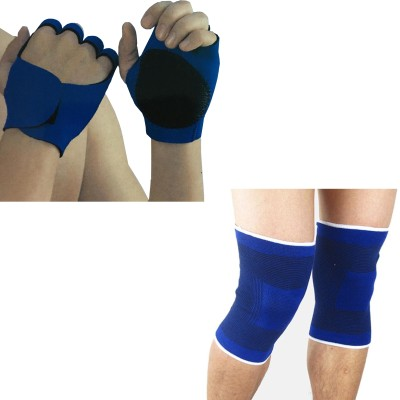 atyourdoor FGKS02 Knee Support (Free Size, Blue)
