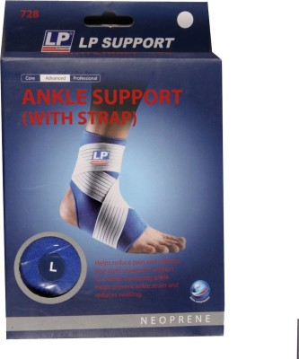 LP With Strap Ankle Support (M, Blue)