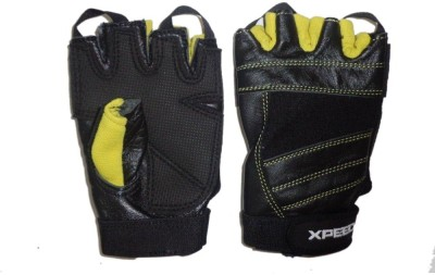 Xpeed Weight Lifting Glove Palm Support (Free Size, Black)