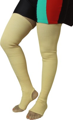 Healcure Vericose Vein Stockings Thigh Support (XL, Beige)
