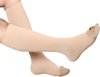 INSTEAD Cotton Anti Embolism Stockings for DVT Knee Support (M, Beige)