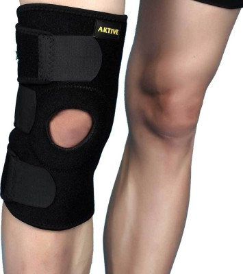 Aktive Support 505 Knee Support (Free Size, Black)