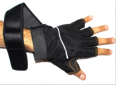 99DailyDeals Elastic Pair Of Wrist Grip Protection Palm Support (Free Size, Black)