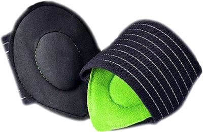 Classic Achy Pain Feet Strutz Cushioned Foot Support (Free Size, Black, Green)