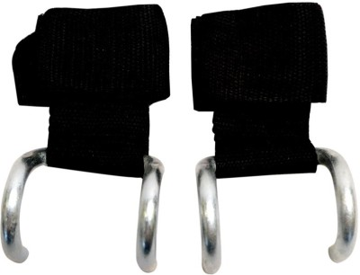 Baspo Weight Lifting Hook Palm Support (Free Size, Black)