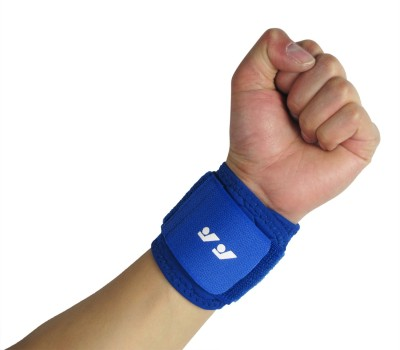 Fancy Steps Firm Compression Wrist Support (L, Blue)