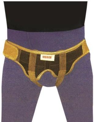 Vissco New Male Inguinal Hernia Belt - Double Pad XL NA (XL, Beige, Grey)