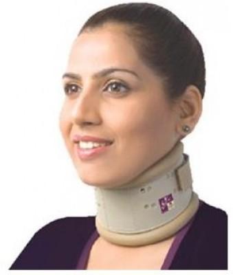 Flamingo Hard Collar (Height adjustable) Neck Support (XL, Beige)