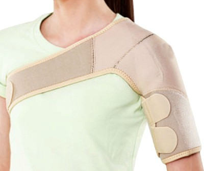 Shrih Neoprene Universal Shoulder Support (Free Size, Beige)