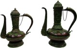 Gathbandhan Green Brass Surahi (2 L)