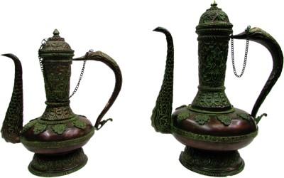 Gathbandhan Green Brass Surahi(2 L)