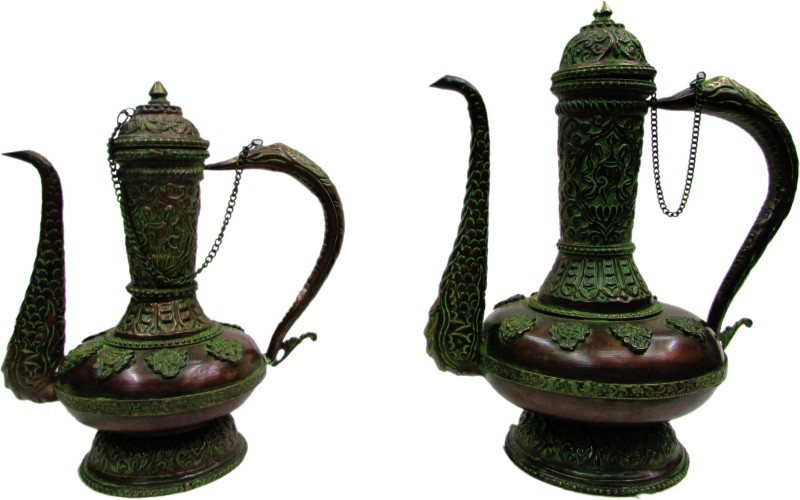 Gathbandhan Green Brass Surahi(2 L)