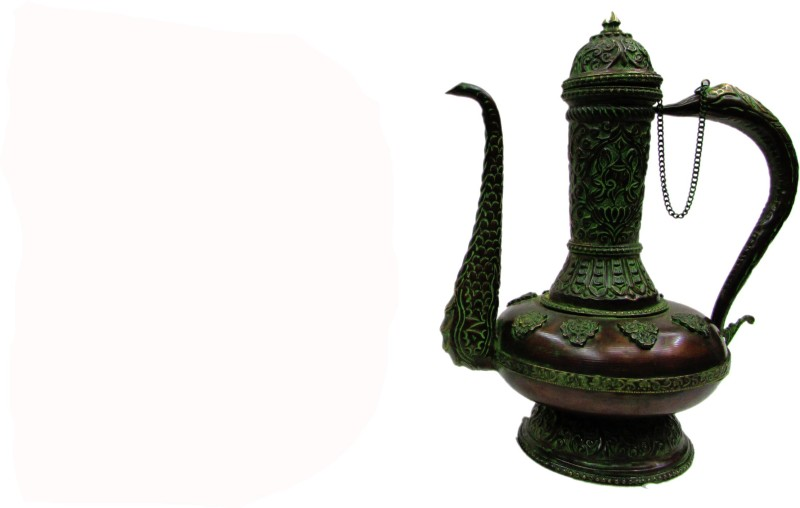 Gathbandhan Green Brass Surahi(1 L)