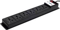 Generix Power+ Extension Cord Multiple Socket 4 Meters 6 Socket Surge Protector(Black)