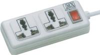 MX MX840_Multicolor 2 Socket Surge Protector(Multicolor)