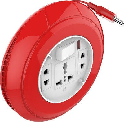 Goldmedal Flexi 2 Pin 3 Socket Surge Protector(Red)