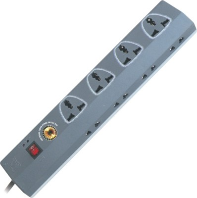 MX SPIKE & SURGE PROTECTOR WITH UNIVERSAL SOCKETS 12 Socket Surge Protector(Grey, White)