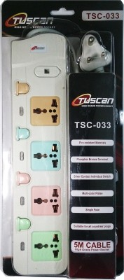 Tuscan High Power Extension Cord 4 Strip Surge Protector