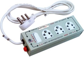 Electricless Power Extension 3 Socket Surge Protector