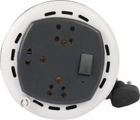 Oxcord 3Pin 4Mtr Flex Box with 1 international Socket 3 Socket Surge Protector(Grey)