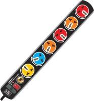 MX SURGE & SPIKE PROTECTOR 6 SOCKETS 6 Socket Surge Protector(Black)