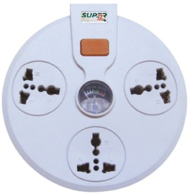 Super-IT Universal Extension Socket with Analog Volt Meter (1362)-2m 3 Strip Surge Protector