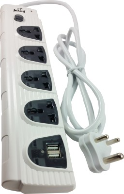 CARE CASE Extension Board Spike Guard with 2 USB PORT 1.5 Meters 4 Wall Mount Surge Protector