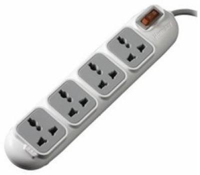 Huntkey PZD 401 ��� sockets 4 Socket Surge Protector(White)