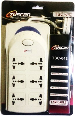 Tuscan High power extension cord 6 Strip Surge Protector