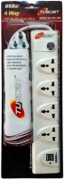 Tuscan Extension Board With 2 Usb Ports - 1.5 Meter Cable 4 Socket Surge Protector(White)