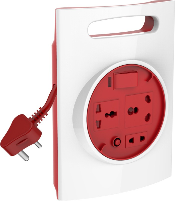 Goldmedal G-Expert 16a 3 Socket Surge Protector(White, Red)