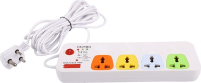 Cona Smyle VIVA 4+1 Power Strip / Spike Guard 4 Sockets + 1 Switch with 5 Mtrs Wire 4 Strip Surge Protector