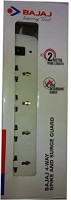 Bajaj 4-Way Spikeguard 4 Socket Surge Protector(White)